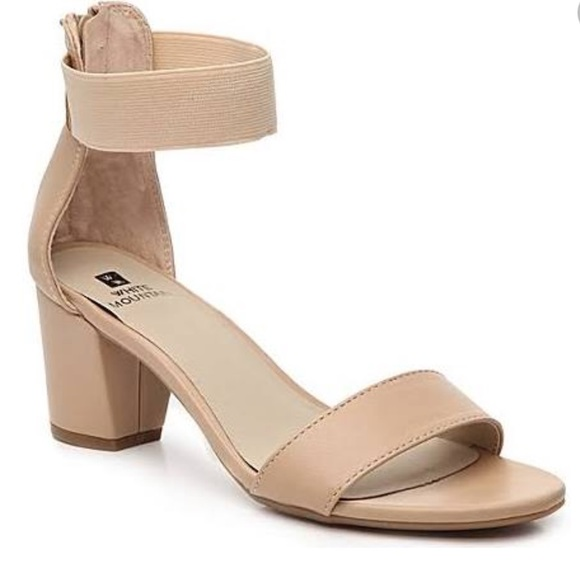 Nwt Tan Block Heel Sandal With Ankle